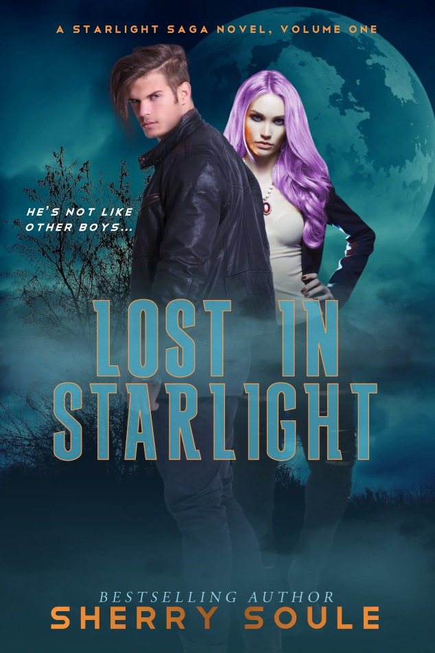 LOST IN STARLIGHT- book 1 - paranormal romance - dark humor - book cover