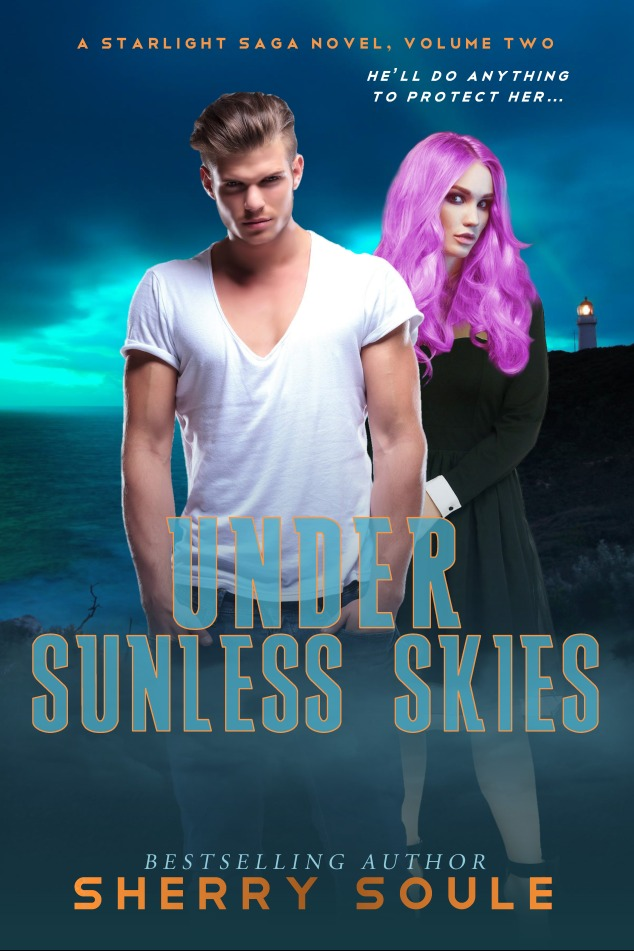 UNDER SUNLESS SKIES - book 2 - science fiction paranormal romance - book cover